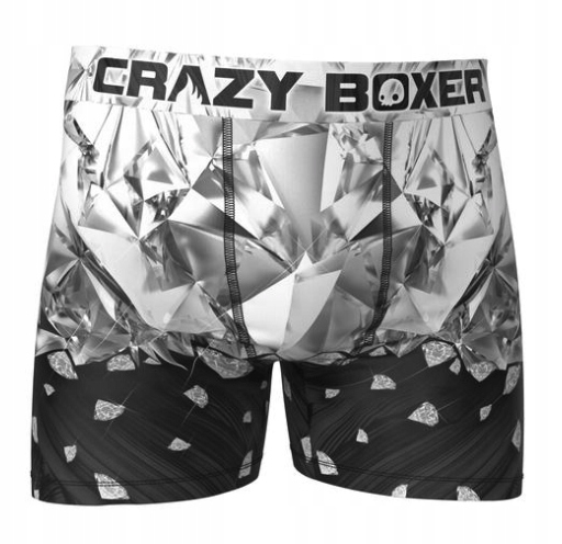 BM CrazyBoxer smieszne bokserki męskie diamond r-S