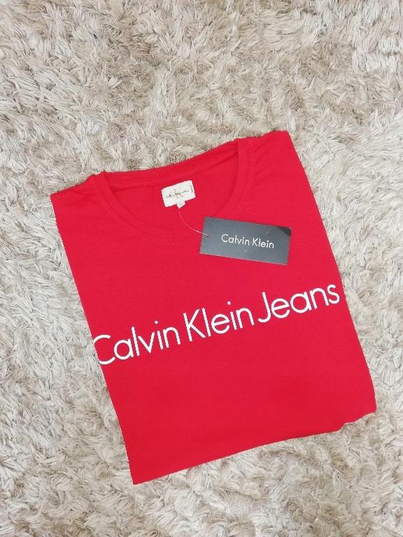 Czerwona koszulka T-shirt Calvin Klein XXL