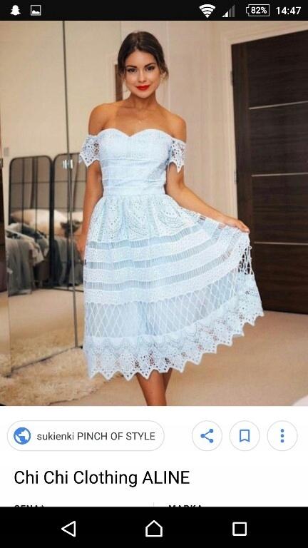 17b5f6b717 sukienka CHI CHI LONDON M - 7576119752 - oficjalne archiwum allegro