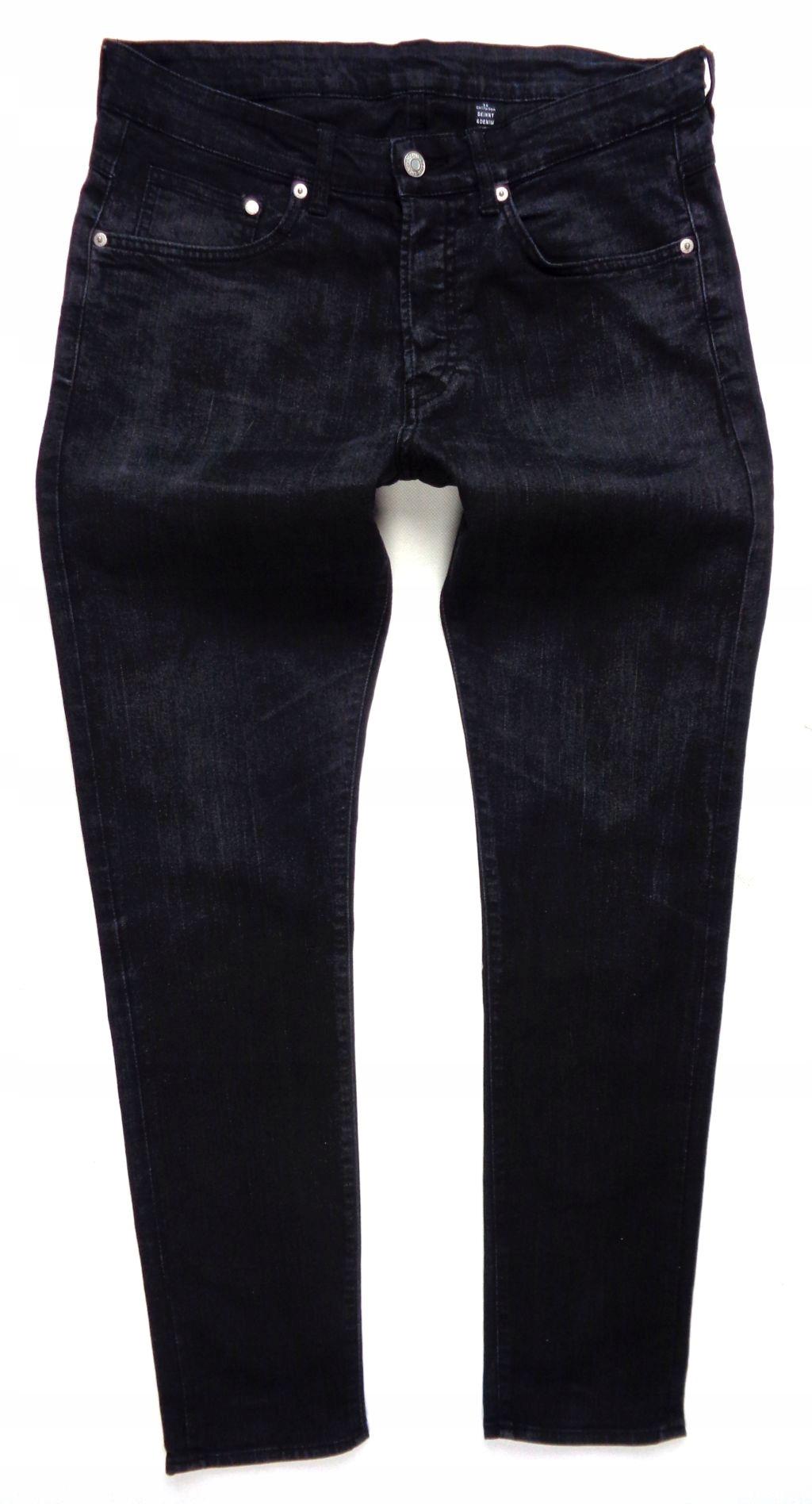 286 H&M jeans rurki przetarcia VINTAGE 34