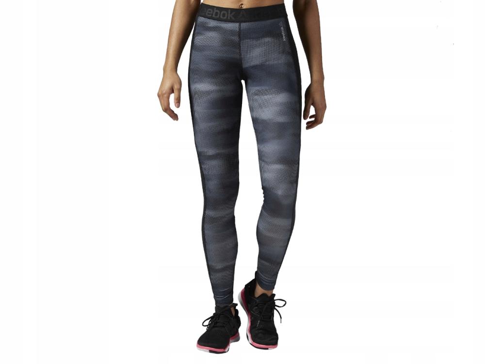 Legginsy damskie długie fitness Reebok AY1830 XXS