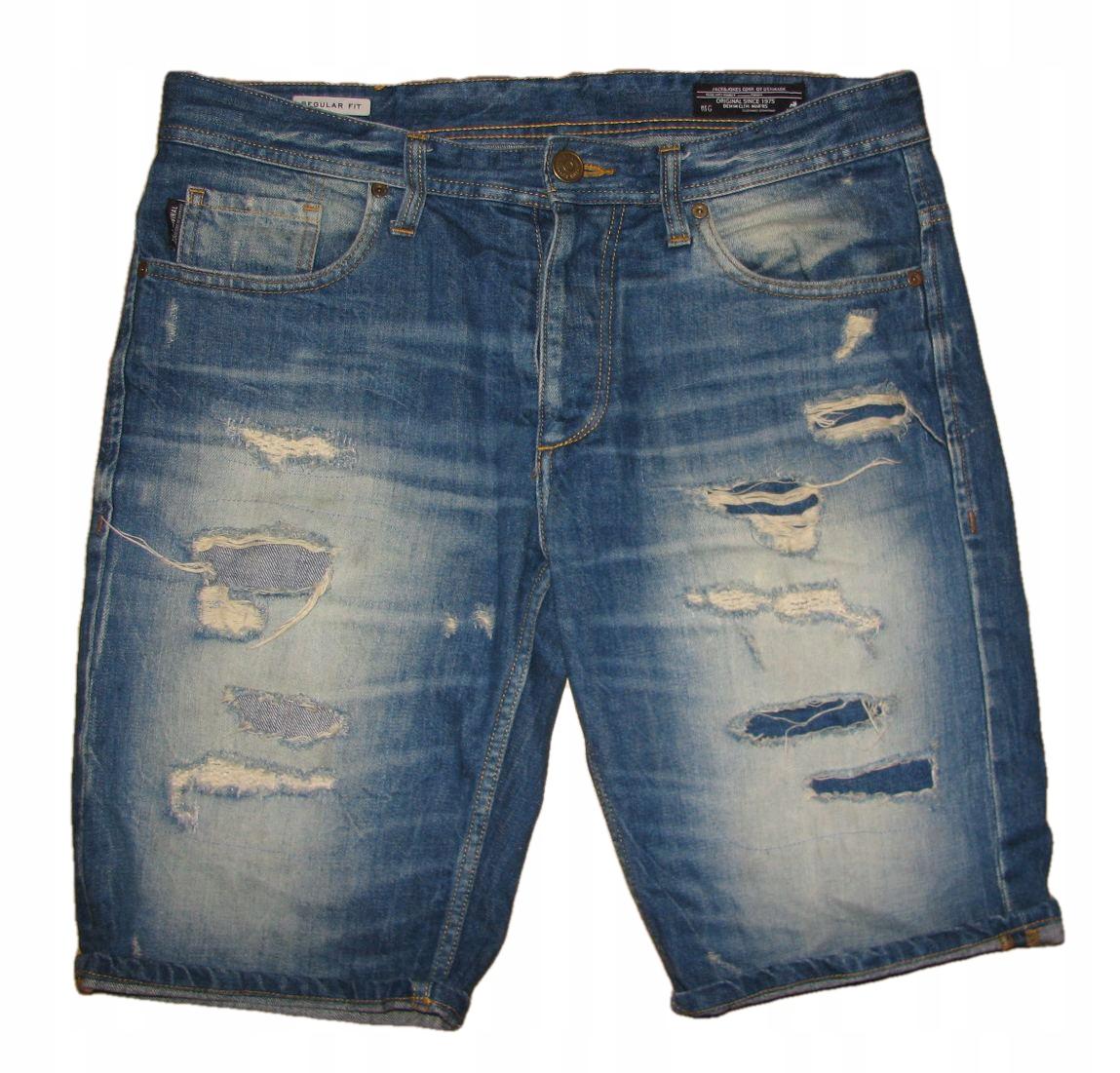 JACK JONES Rick Shorts świetne spodnie na lato M