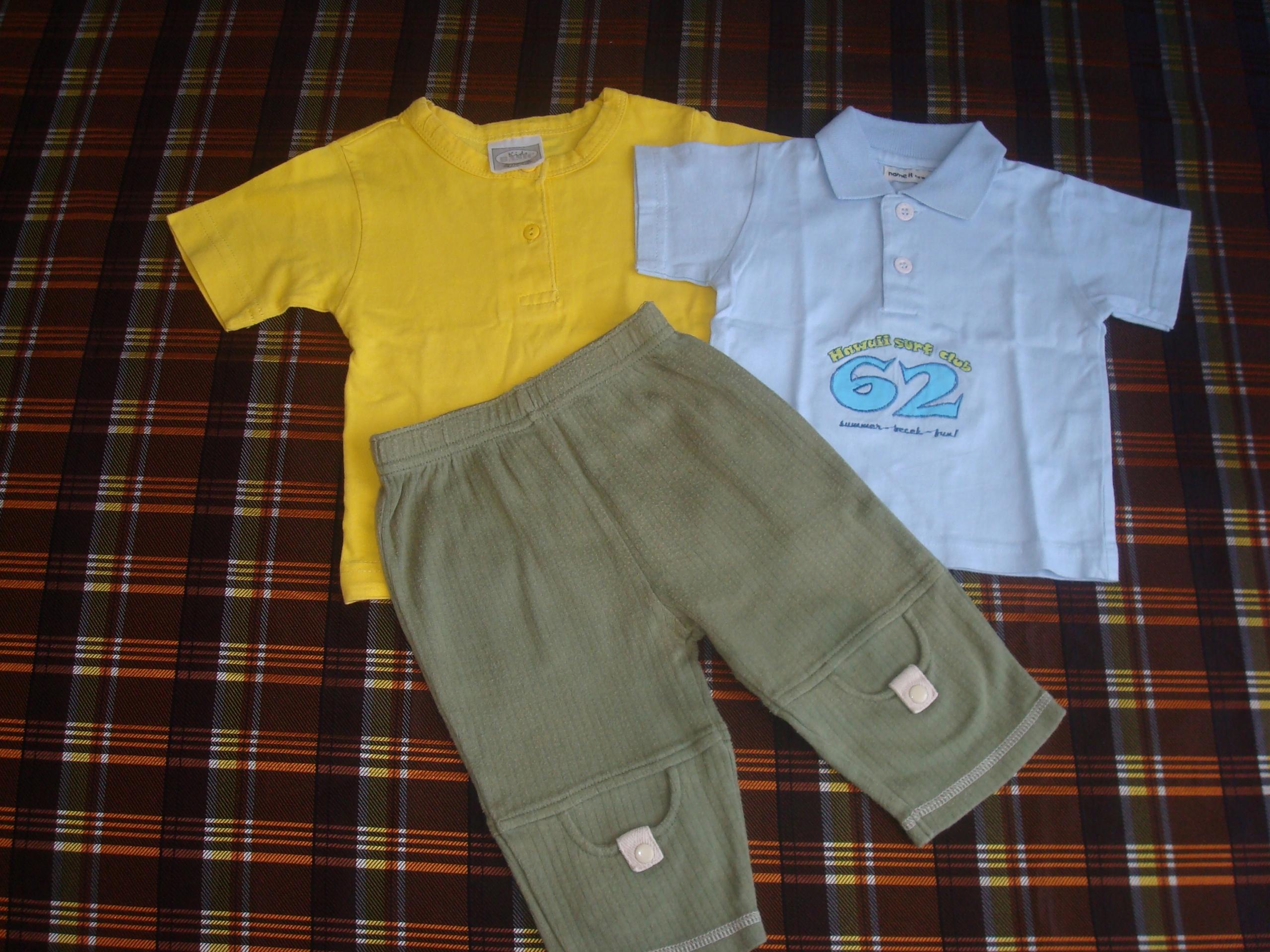 ZESTAW chłop. roz.- 62 - 74 -Spodnie + 2 x Polo JN