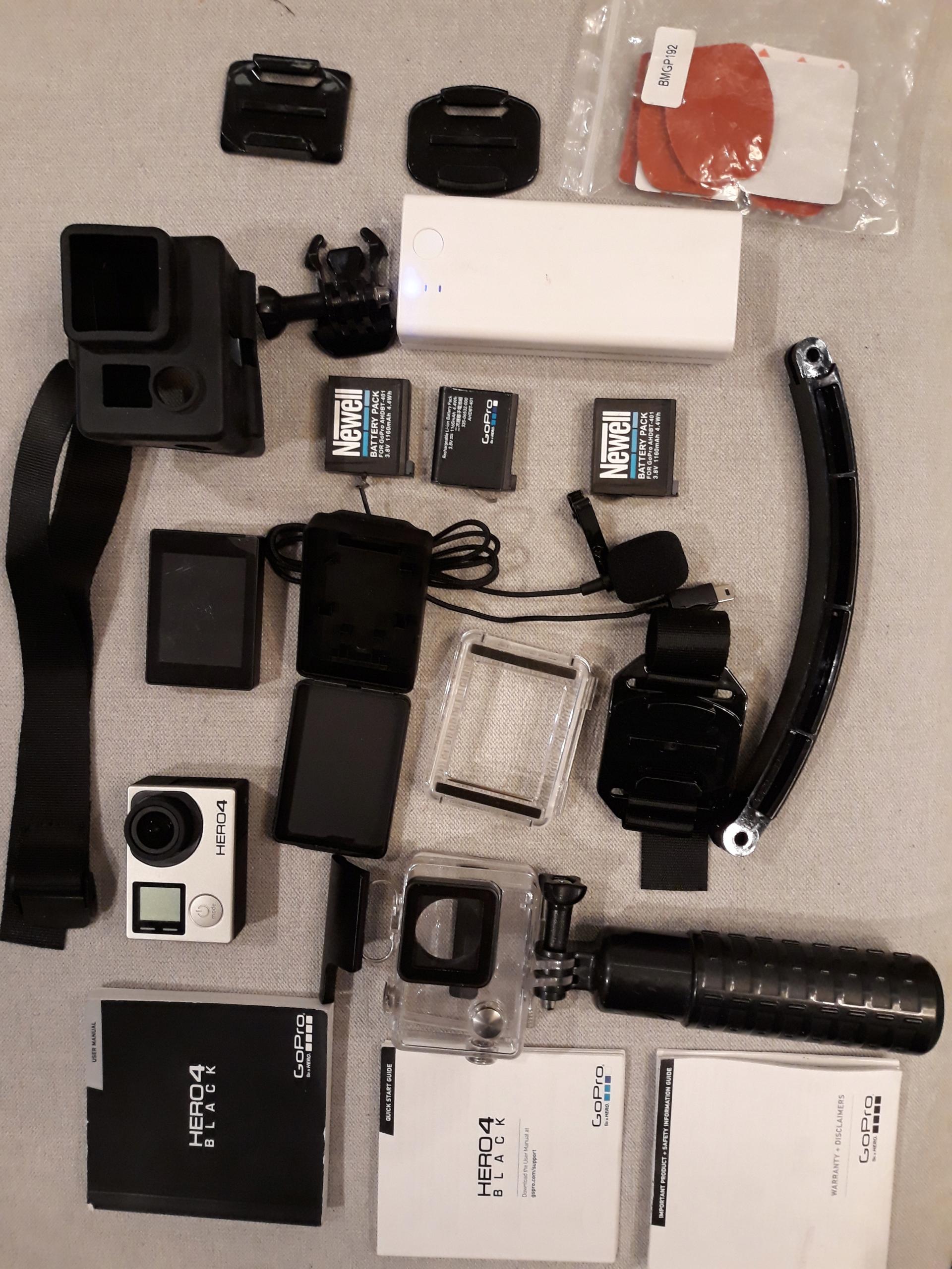 Gopro 4 Black + LCD + Powerbank