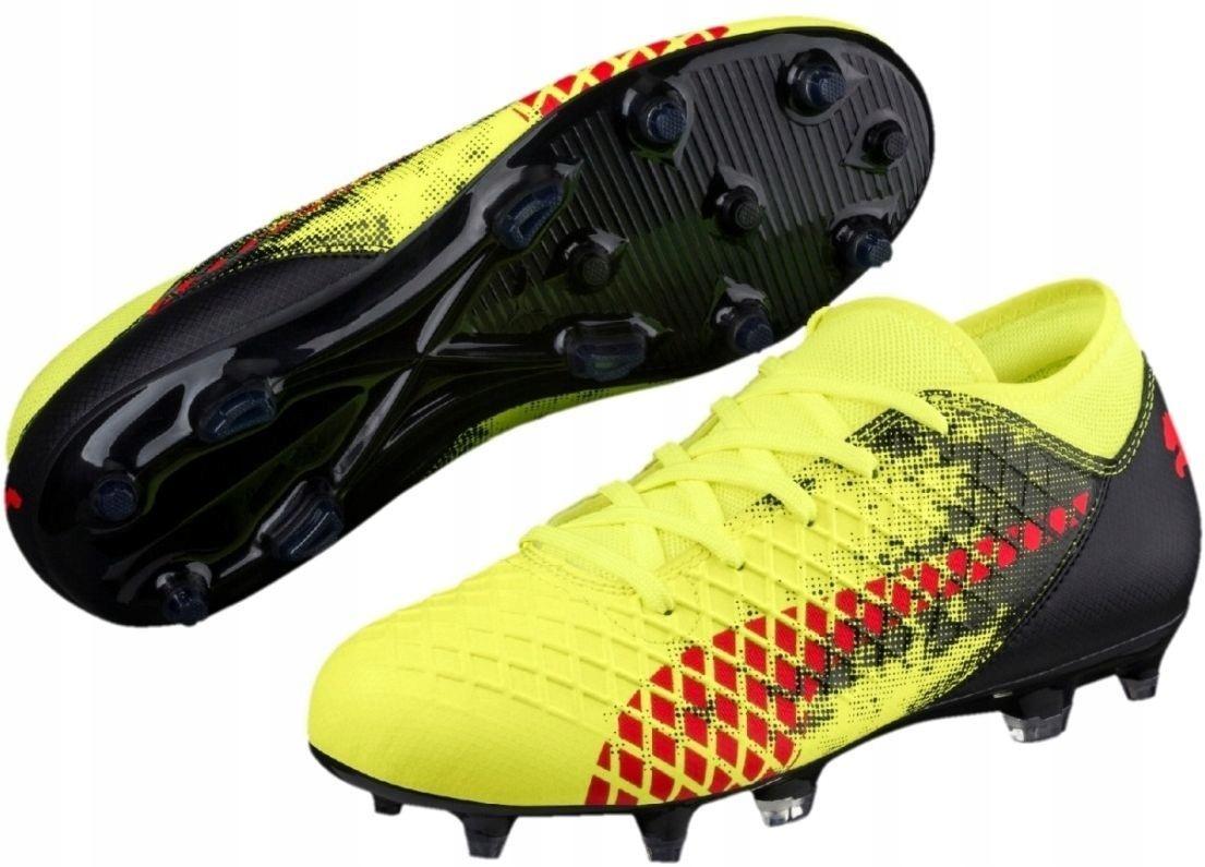 Puma Buty piłkarskie Future 18.4 FG AG JR żółte r.
