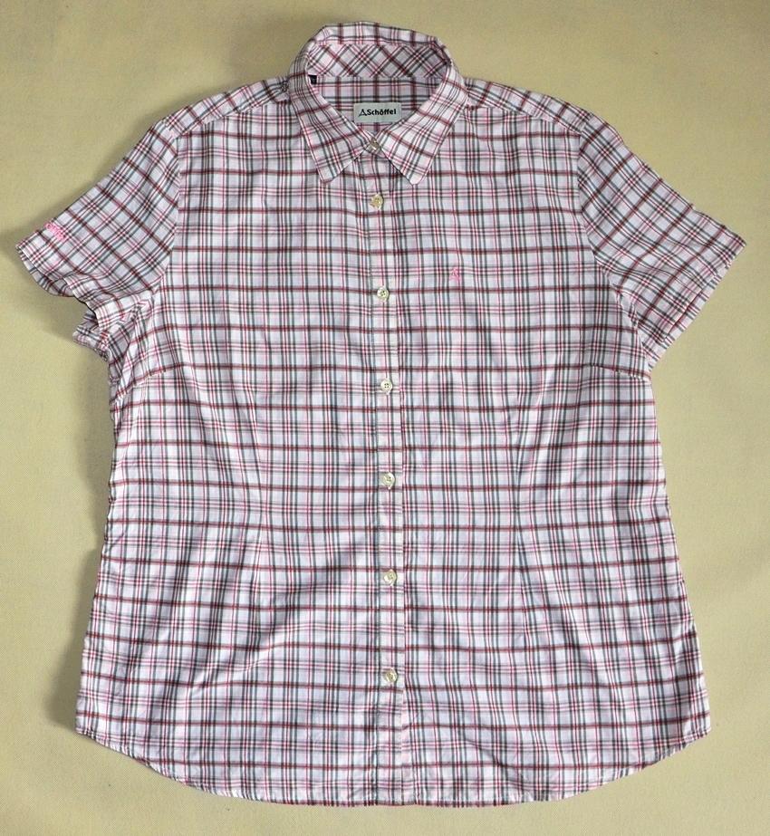 813cf9aec3c81 SCHOFFEL oddychająca koszula w kratkę rozmiar 46 - 7188409829 ...