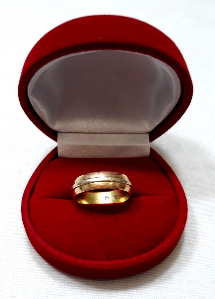 Złota obrączka z łączonego złota 585
