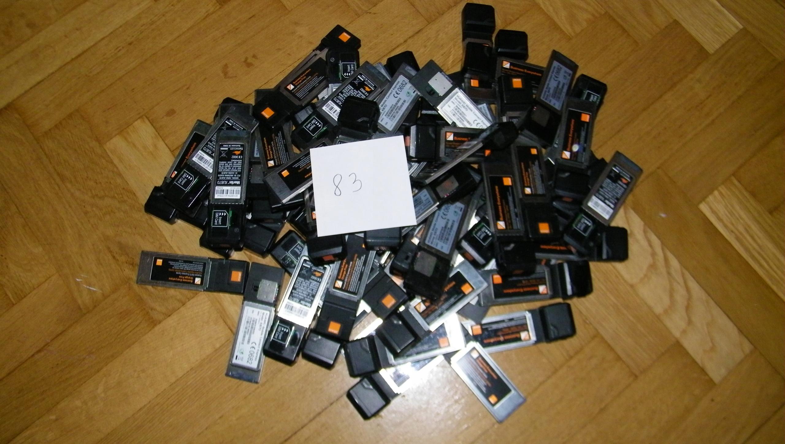 MODEM PCMCIA orange 365 sztuk