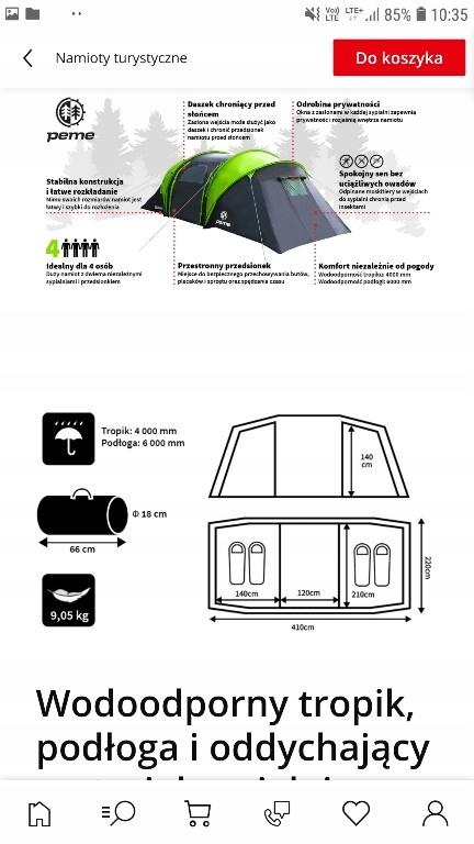 nowy namiot peme Bojan 4 osobowy OKAZJA