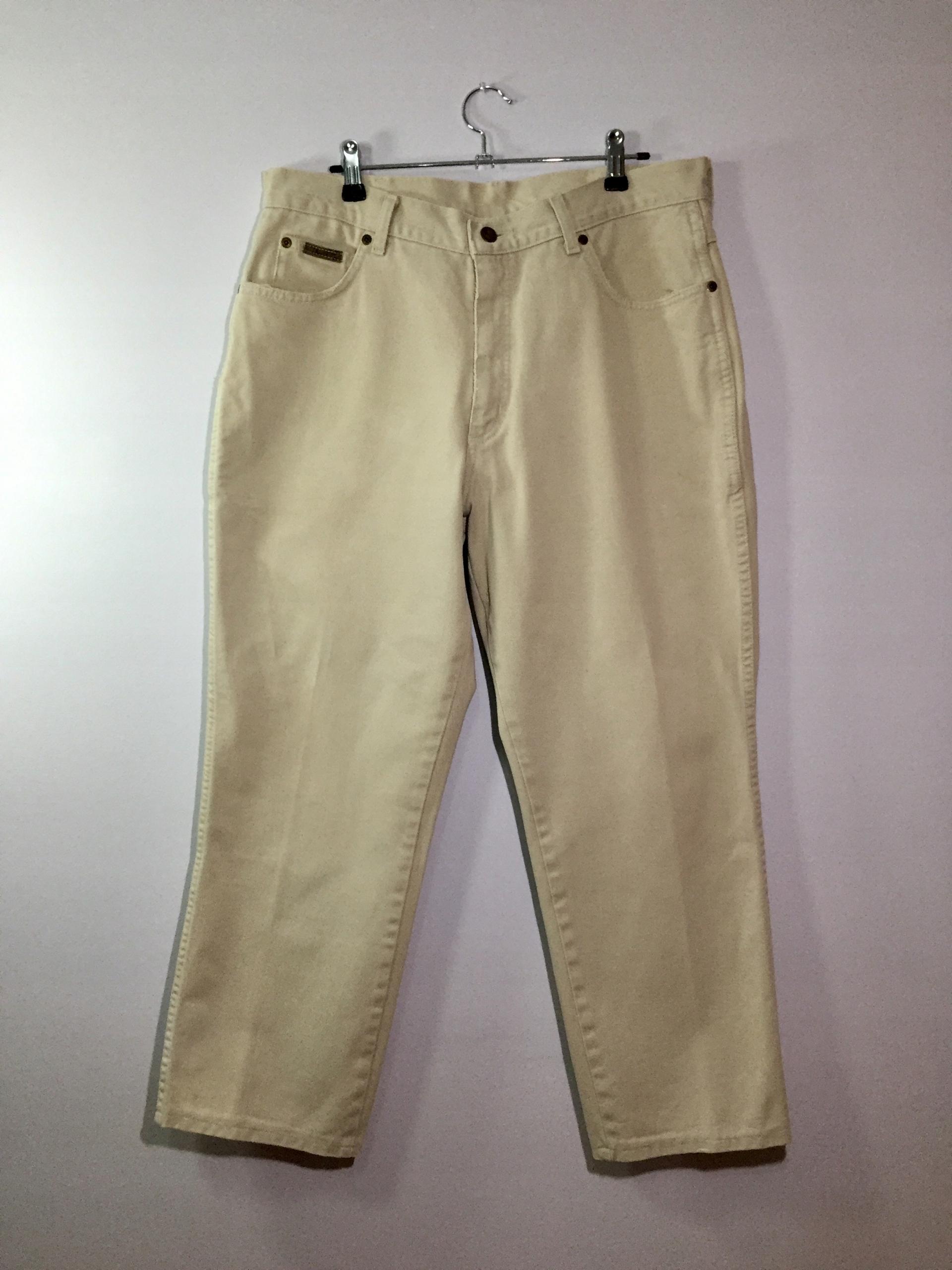 Spodnie Wrangler beżowe W 36 L 30 dla niskiego
