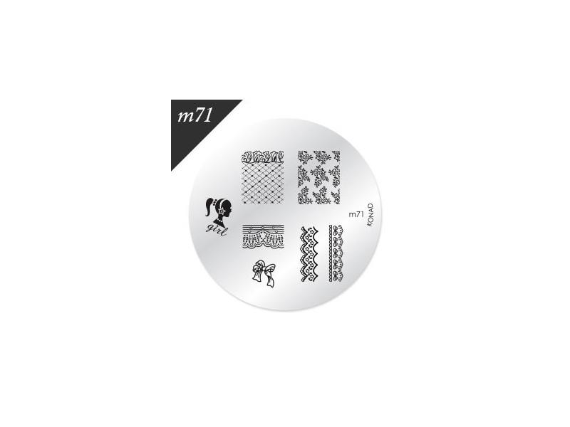 Oryginalna płytka KONAD M71 LIKWIDACJA