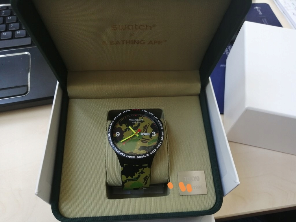 Swatch Bape Limited Tokyo Edition