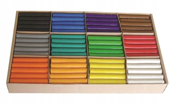 Plastelina MONA zestaw dla przedszkoli 180 sztuk