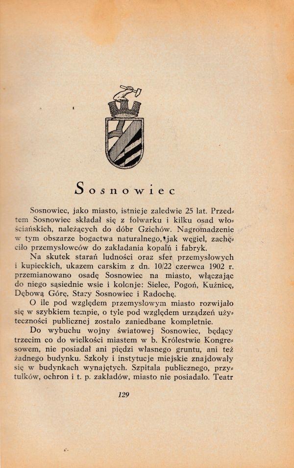 Sosnowiec - przewodnik / informator - 1929r