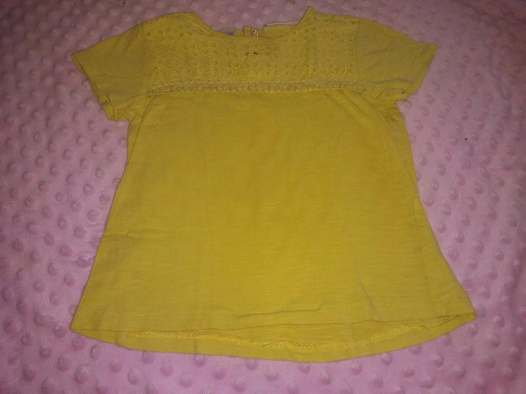 Żółta koszulka Zara rozm 98