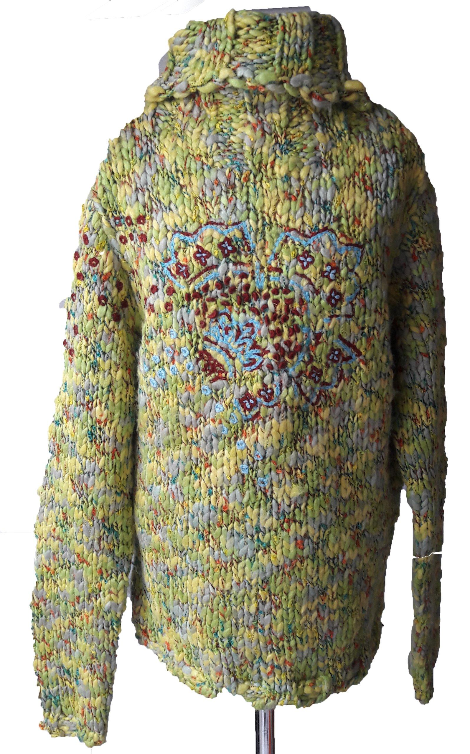 Sweter dla dziewczynki golf 146 swetr