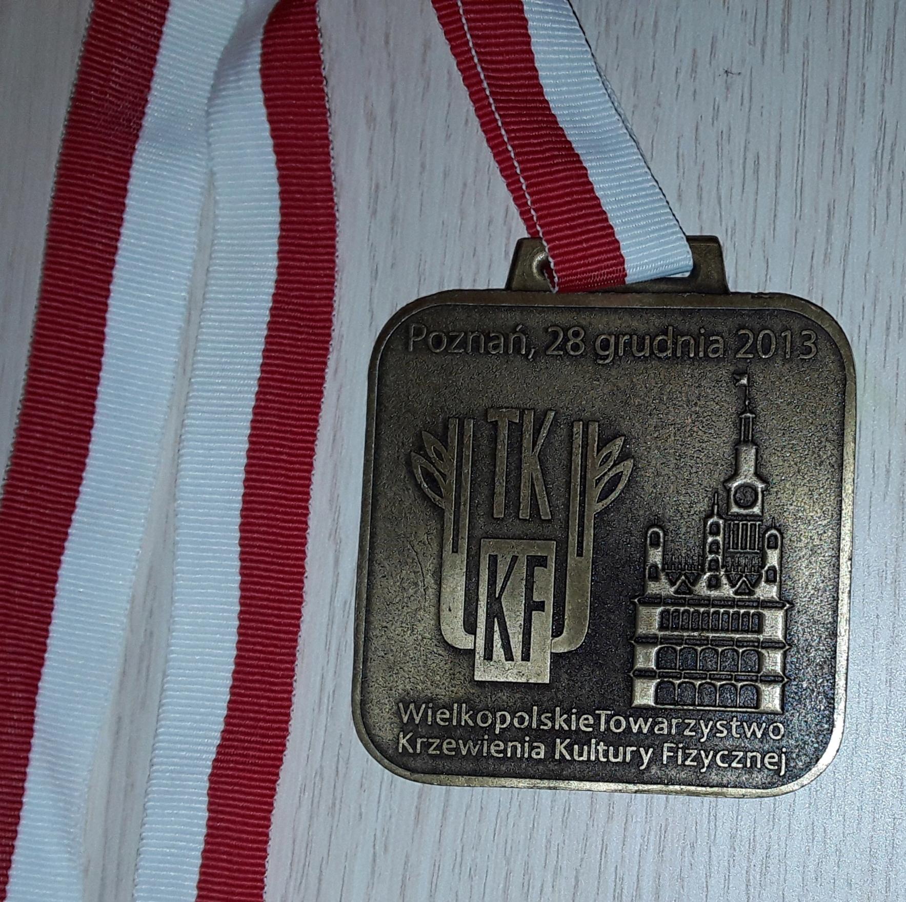 MIĘDZYNARODOWY BIEG SYLWESTROWY Poznań TKKF medal