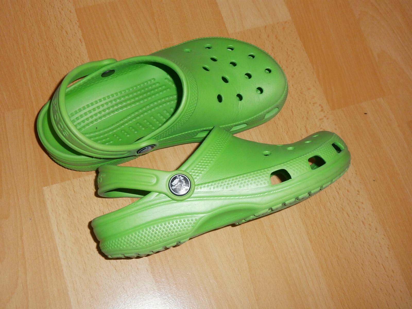 nowy styl sklep internetowy nowa wysoka jakość CROCS - zielone buciki klapki - C 12/13 EU 29 / 30 ...
