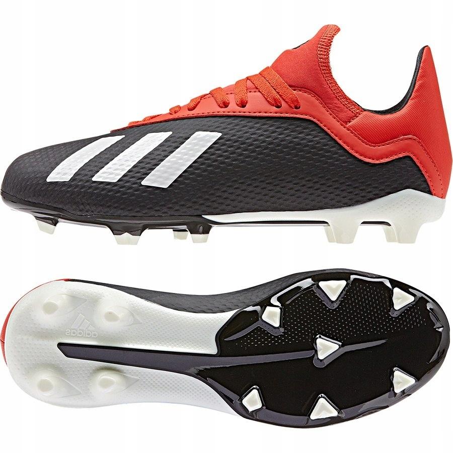 Buty adidas X 18.3 FG J BB9370 czarny 38 2/3