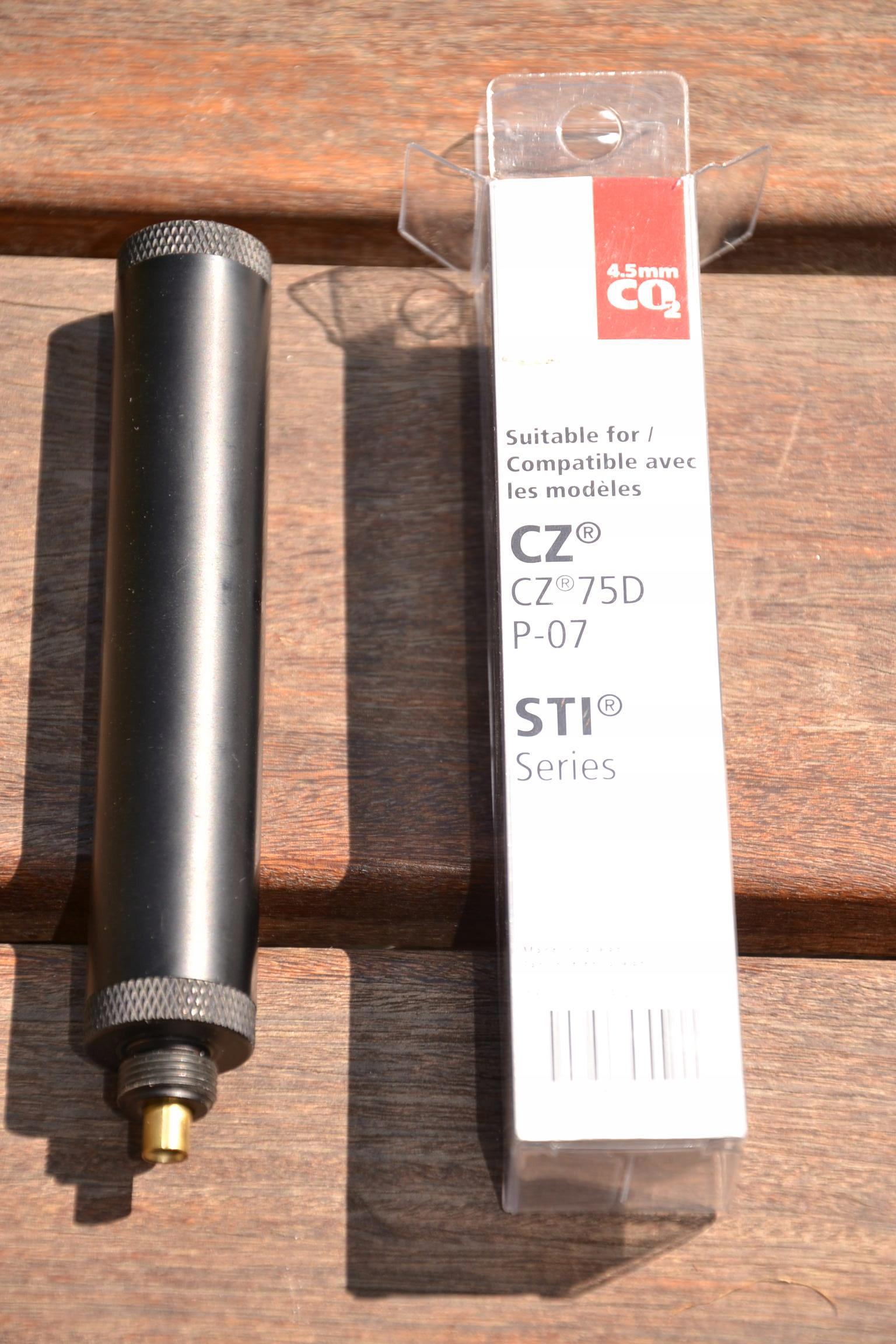 Tłumik do wiatrówek CZ75D, P-07, STI - 4,5mm