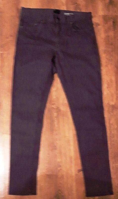 H&M Spodnie meskie SKINNY FIT śliwka 32