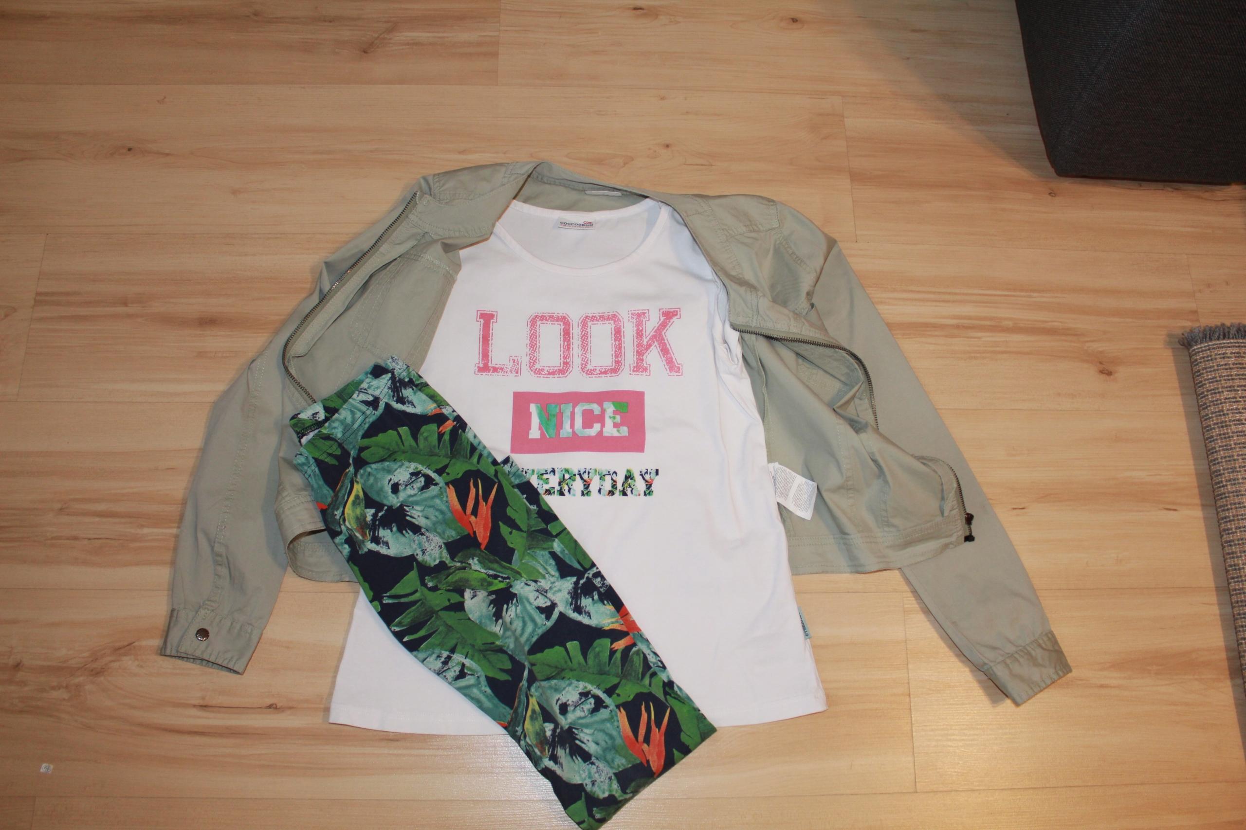 Cocodrillo komplet na wiosne kurtka+bluzka+leginsy