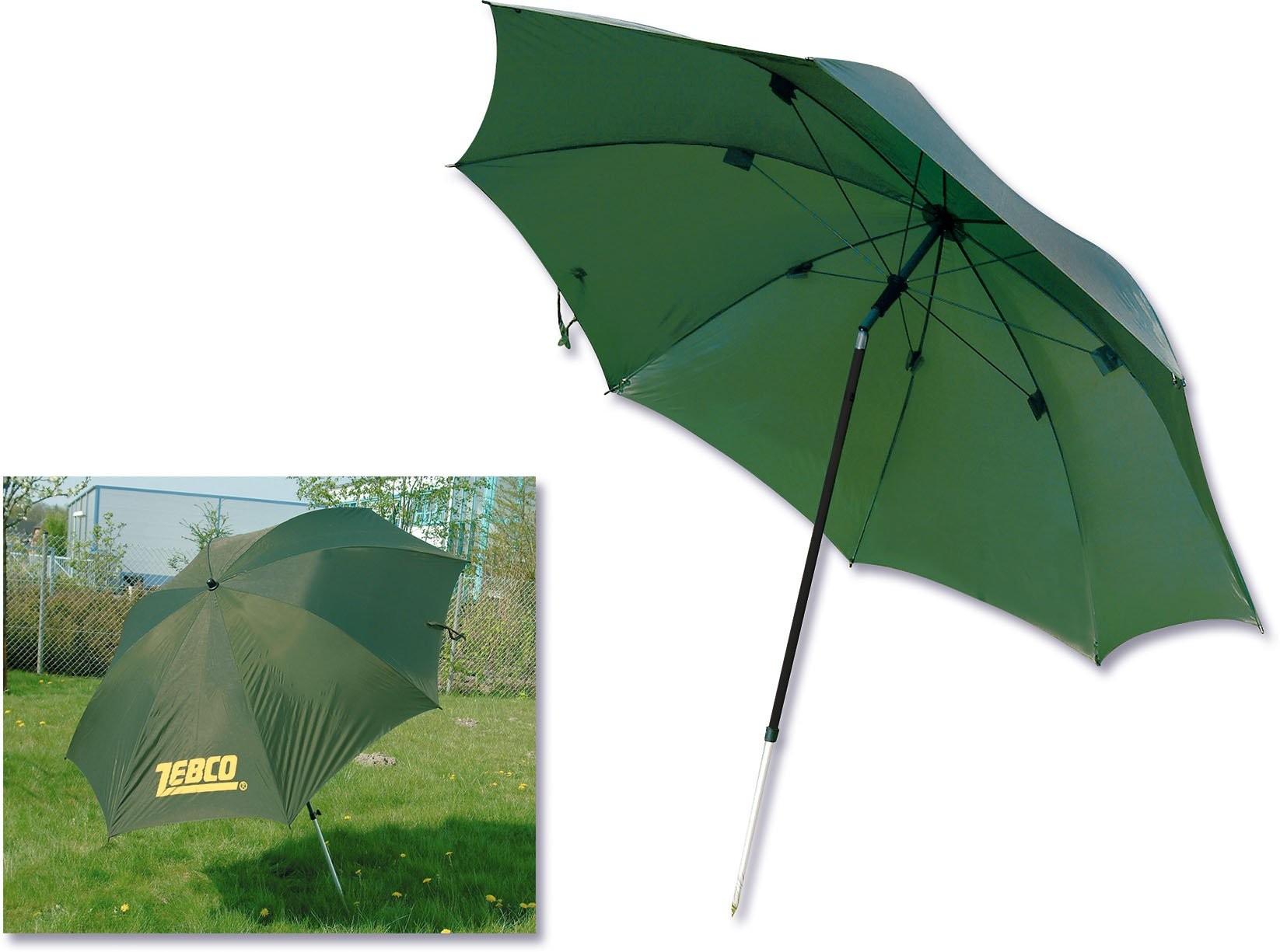Parasol wędkarski Zebco zielony 220cm