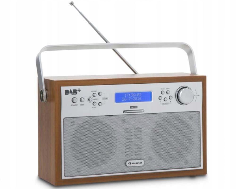 Auna Radio cyfrowe przenośne DAB+/PLL-UKF alarm