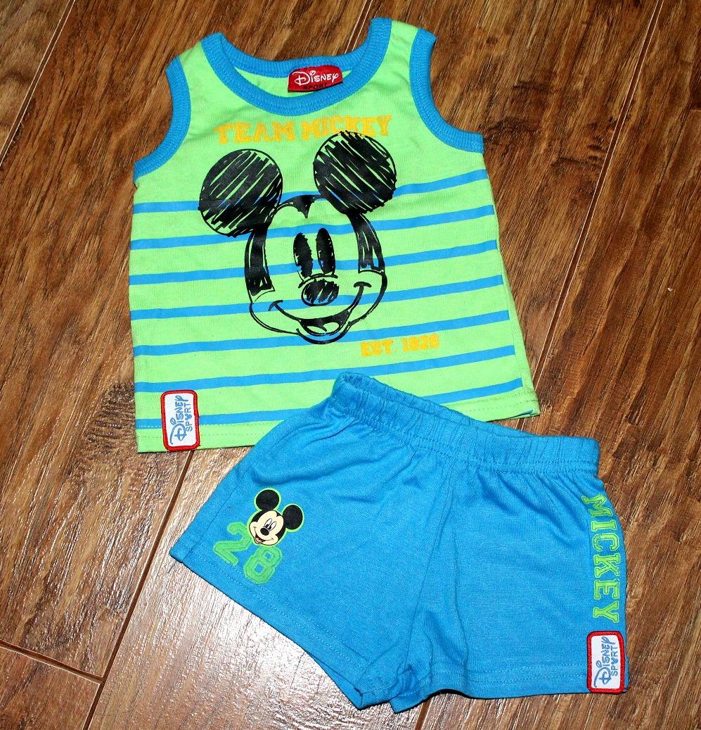 Komplet Disney r.74 spodenki + koszulka + skarpety