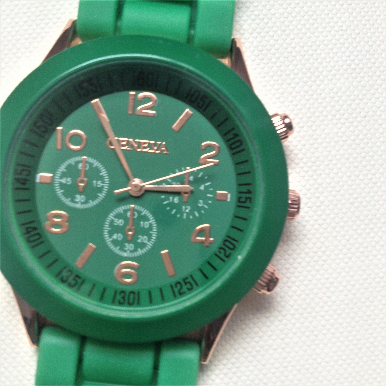 Zegarek damski GENEVA zielony