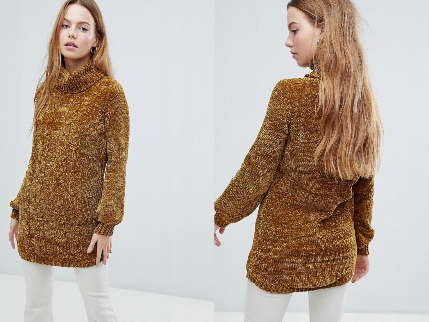 QED London - Sweter z grubej dzianiny S