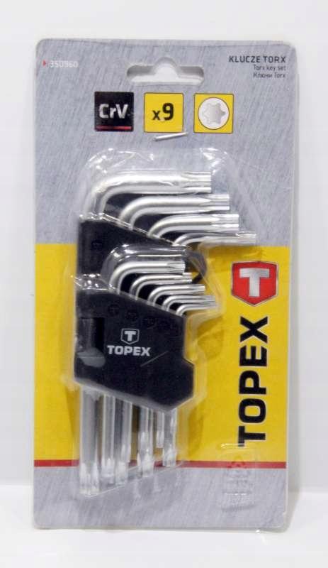 KLUCZE AMPULOWE TOPEX TORX