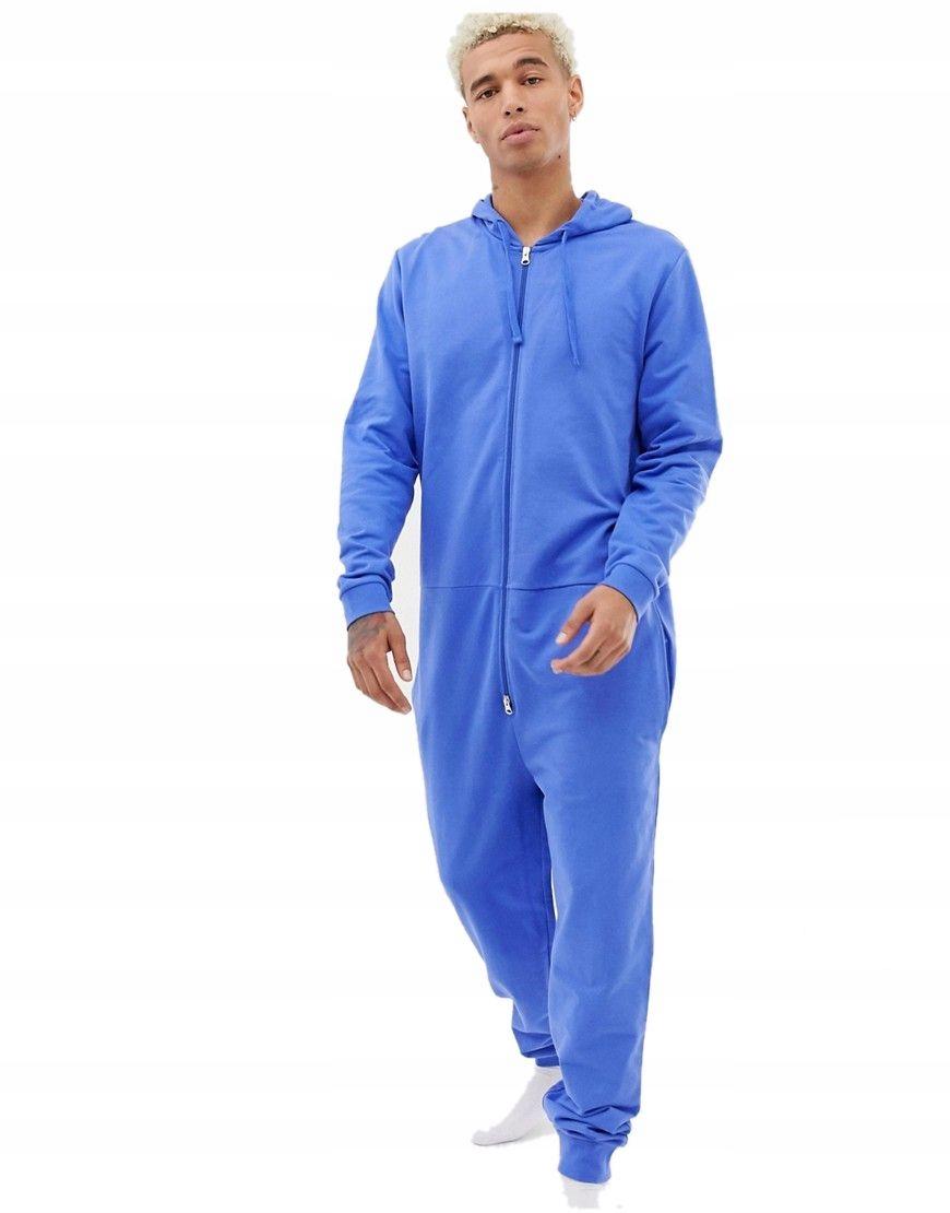 ONESIE kombinezon męski NIEBIESKI piżama DRES XXS