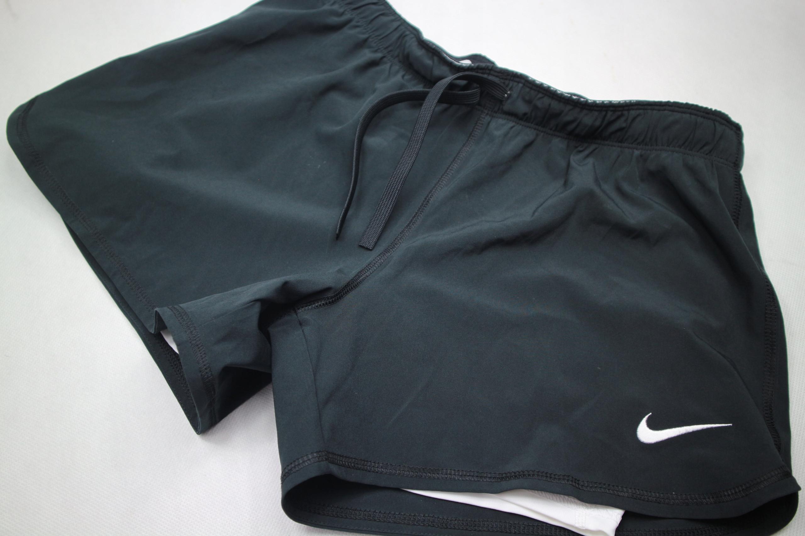 Nike Dri Fit spodenki szorty 2w1 biegowe S