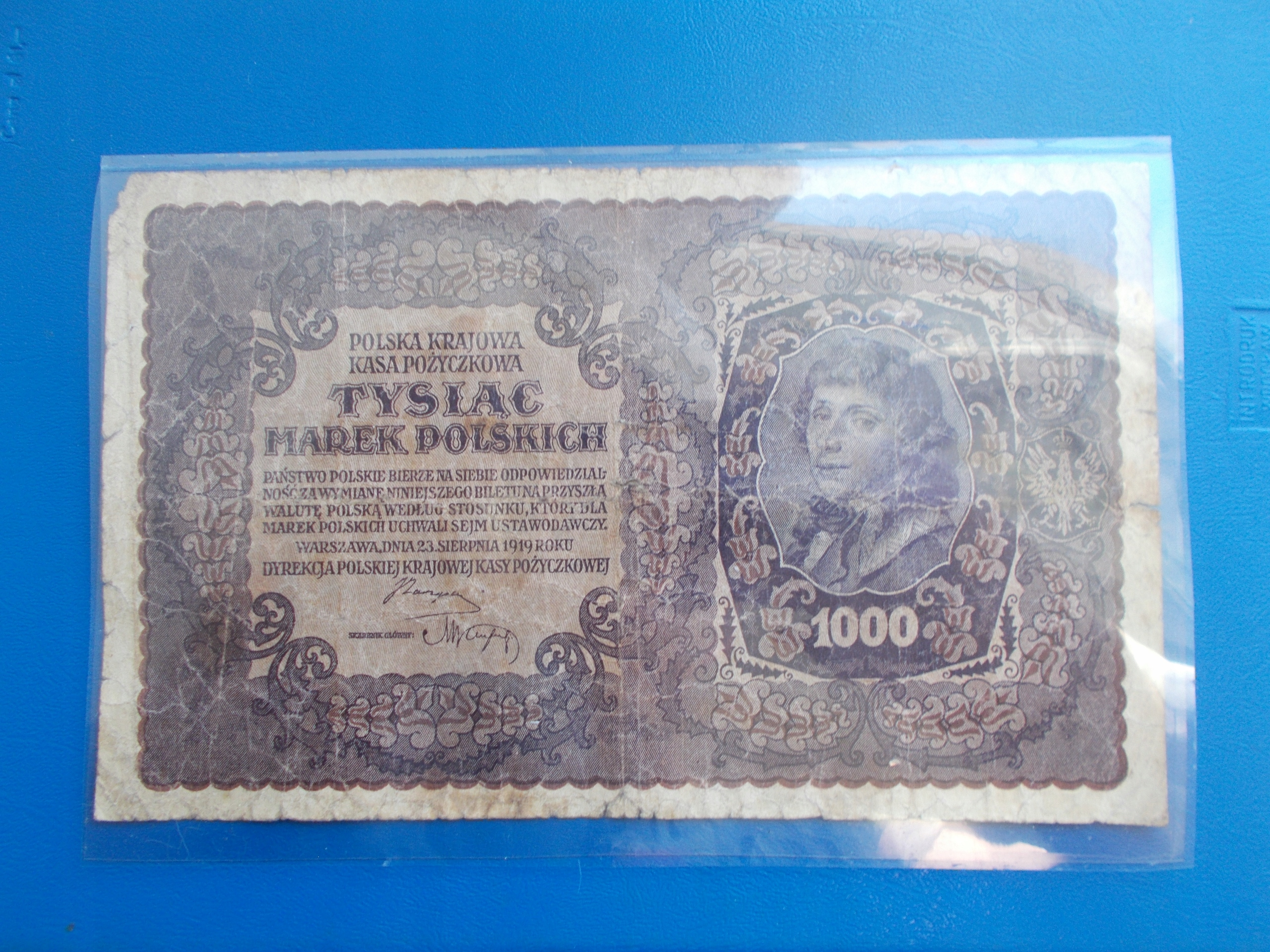 1 000 MAREK POLSKICH-1919-II Serja BJ-rzadki