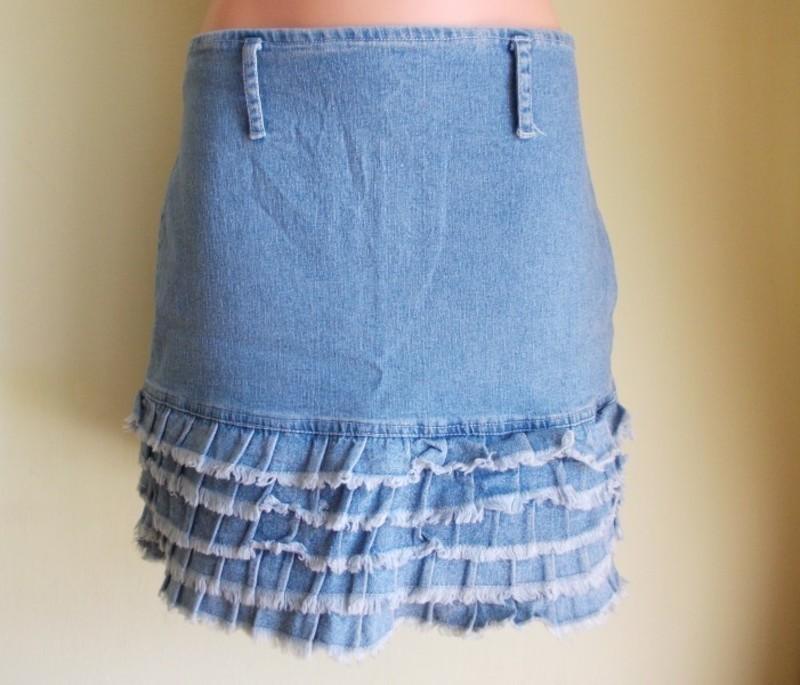3fbdc4aa Spódnica jeansowa falbanki mini Huage ( 38 ) - 7484446072 ...