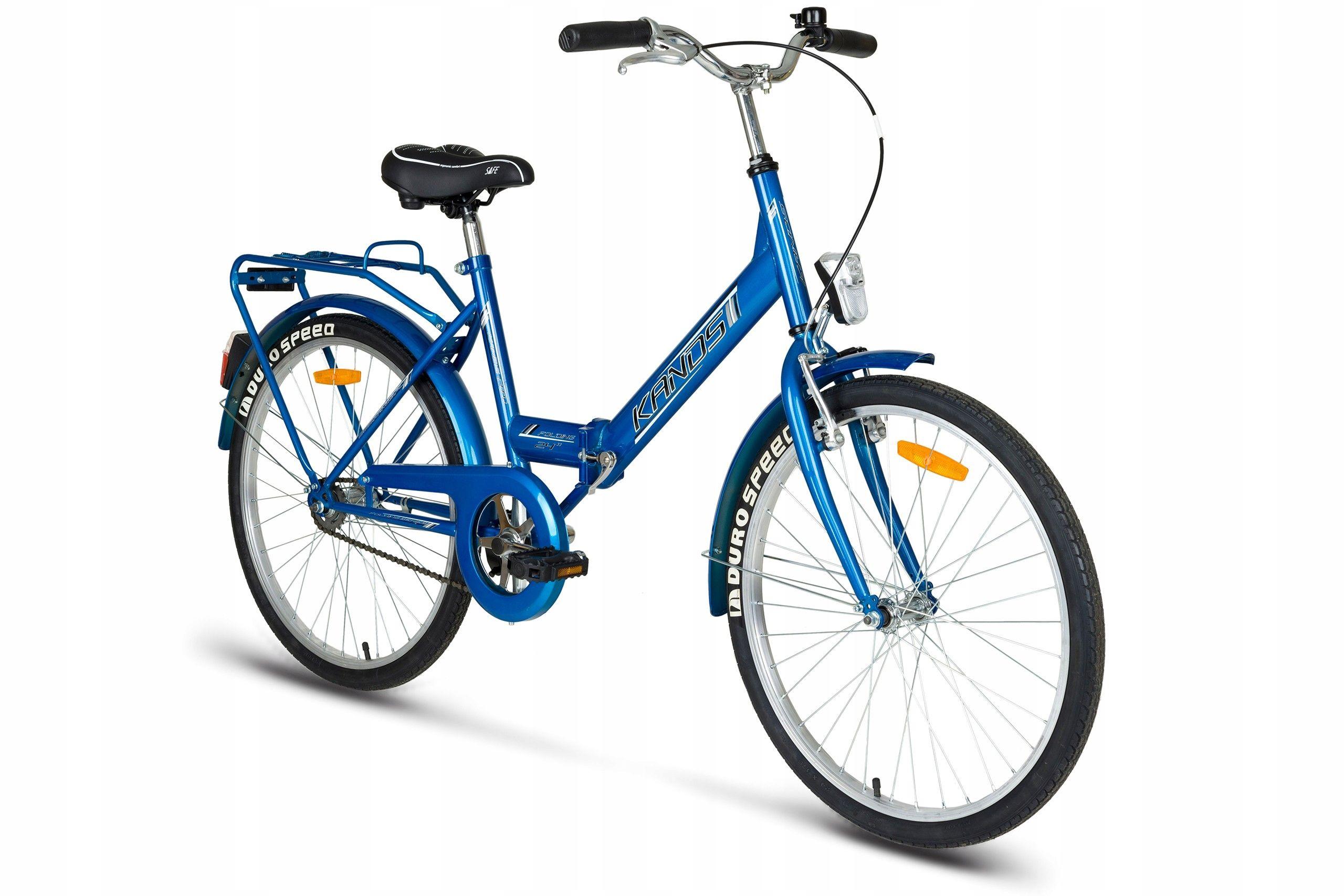 KANDS LAGUNA FOLDING Rower miejski 24 niebieski
