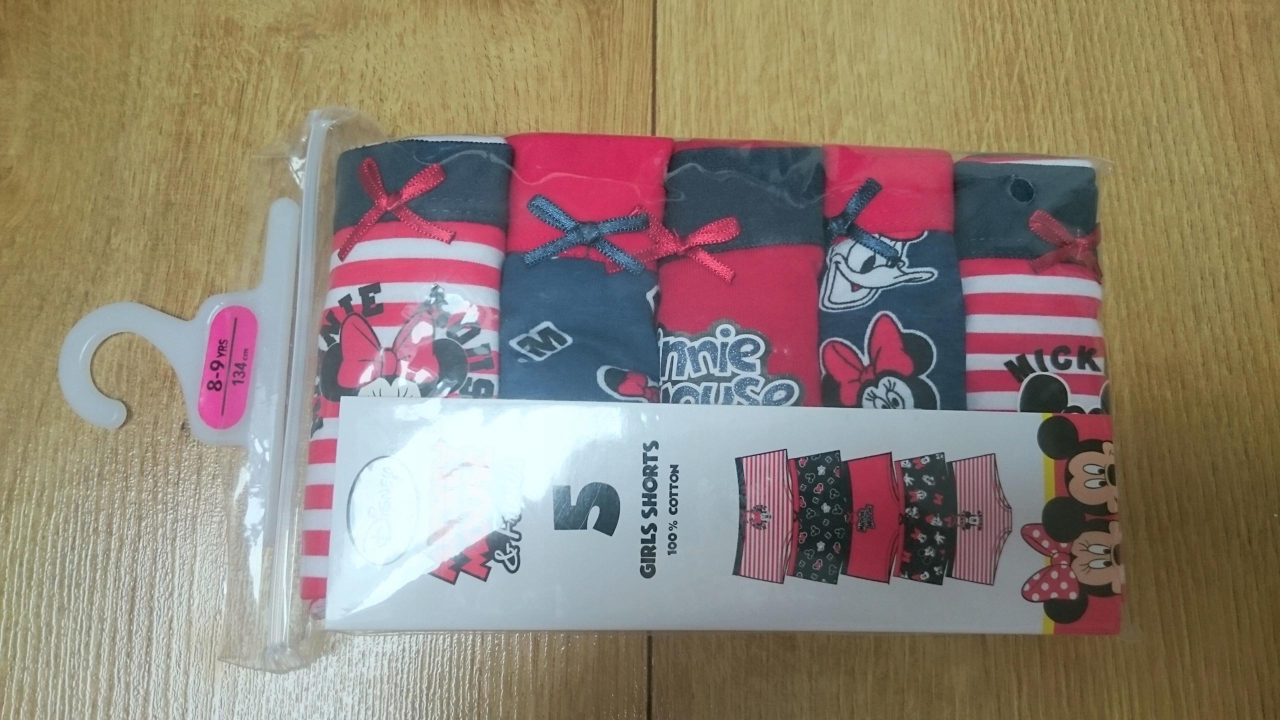 Primark Disney bawełniane majtki Minnie 134 cm