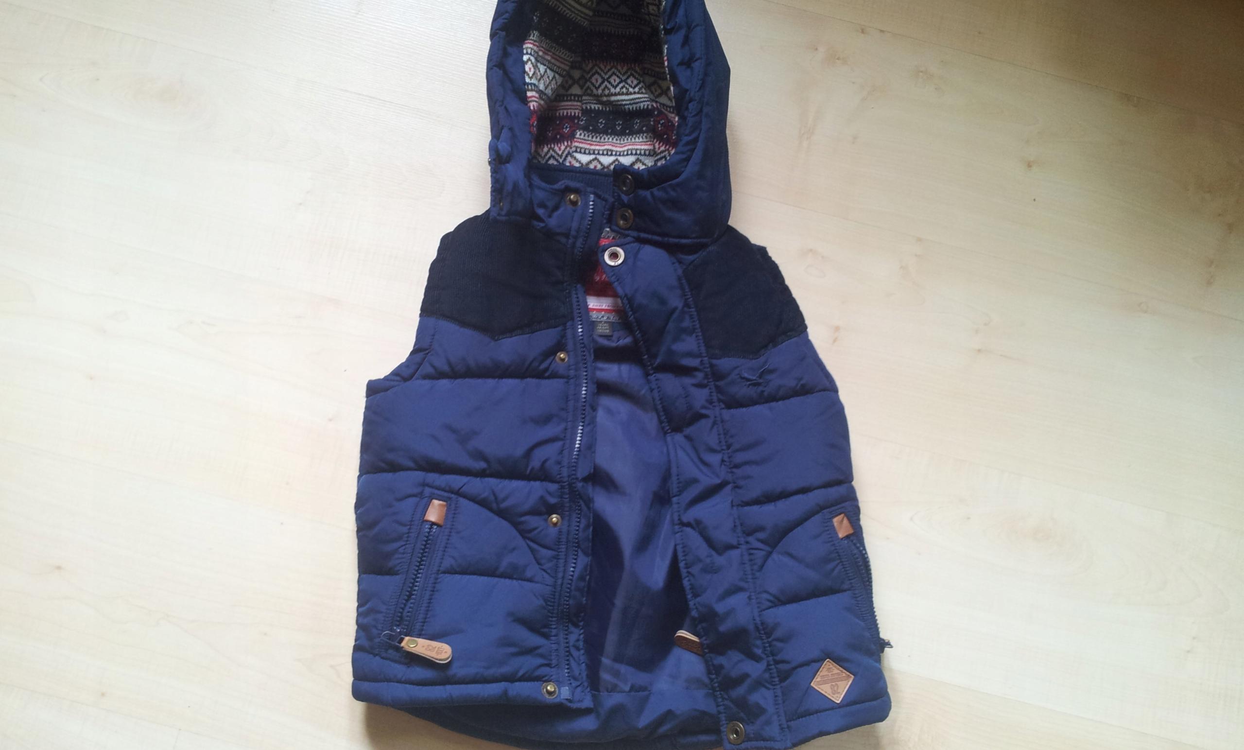 NEXT ciepły bezrękawnik kamizelka Zara H&M 116