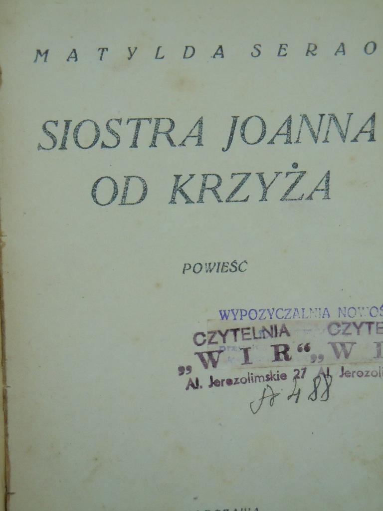 Matylda Serao Siostra Joanna Od Krzyża 7875815545