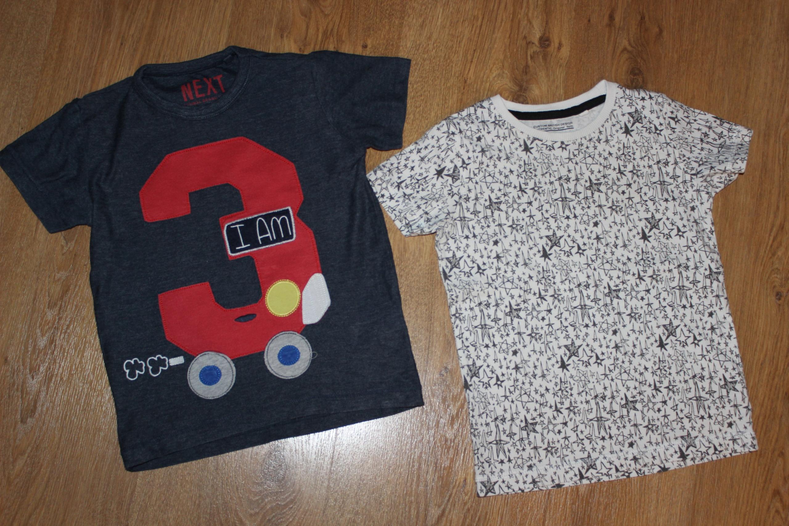 2 szt. bluzeczki _ NEXT _ Urodziny _ 98 cm_ 2-3 l