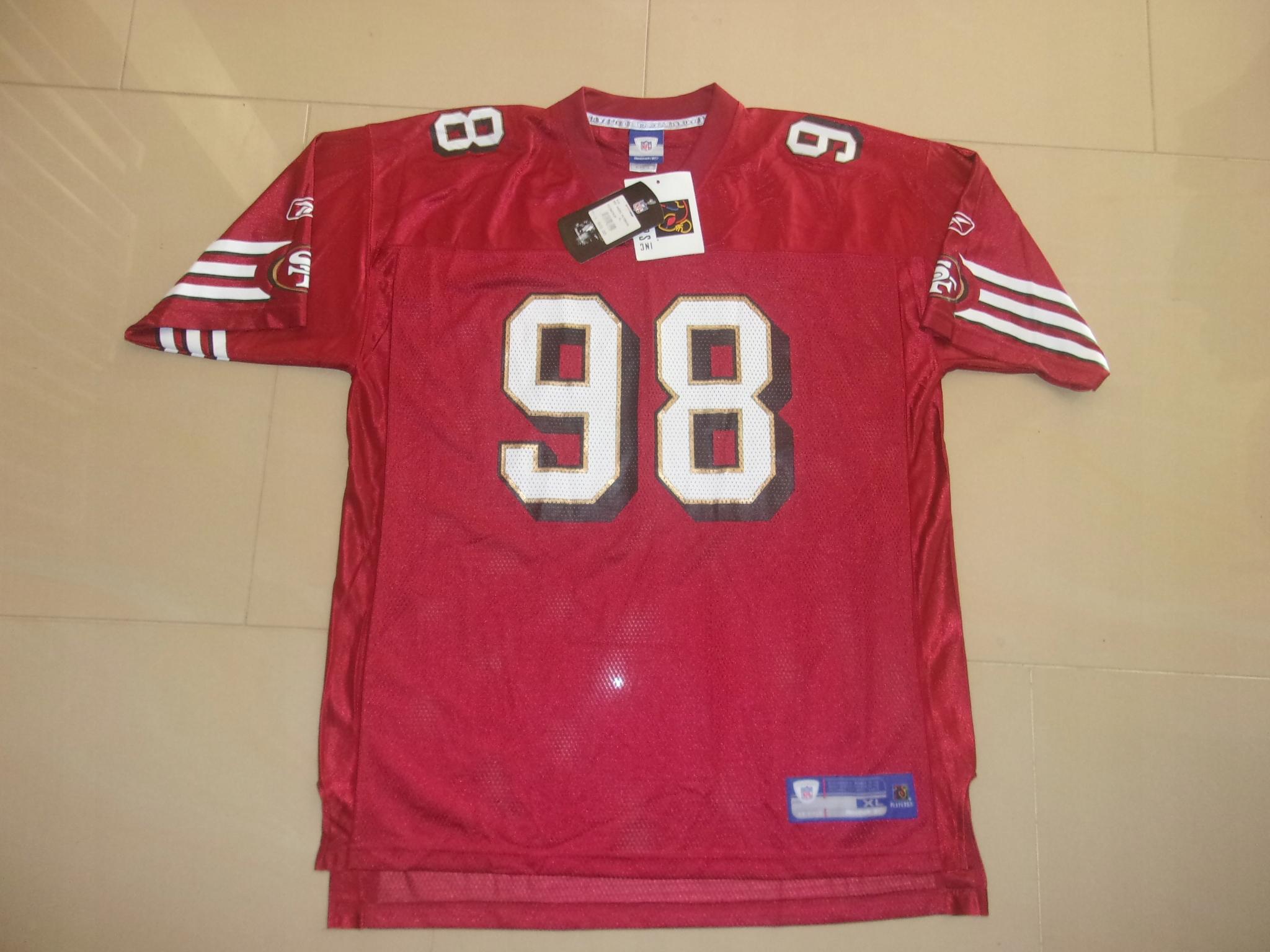 REEBOK SAN FRANCISCO J.PETERSON NFL XL NOWA!!