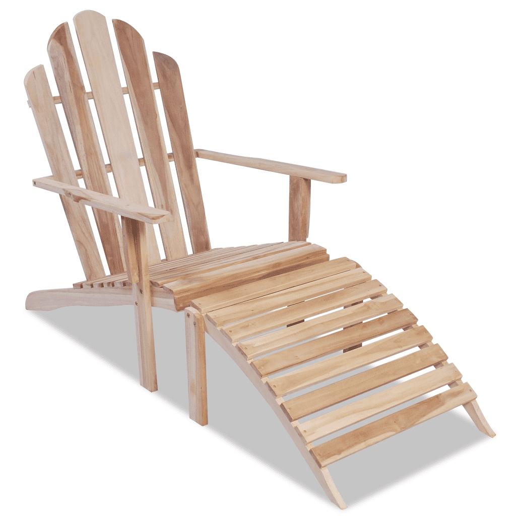42364 vidaXL Krzesło Adirondack tekowe