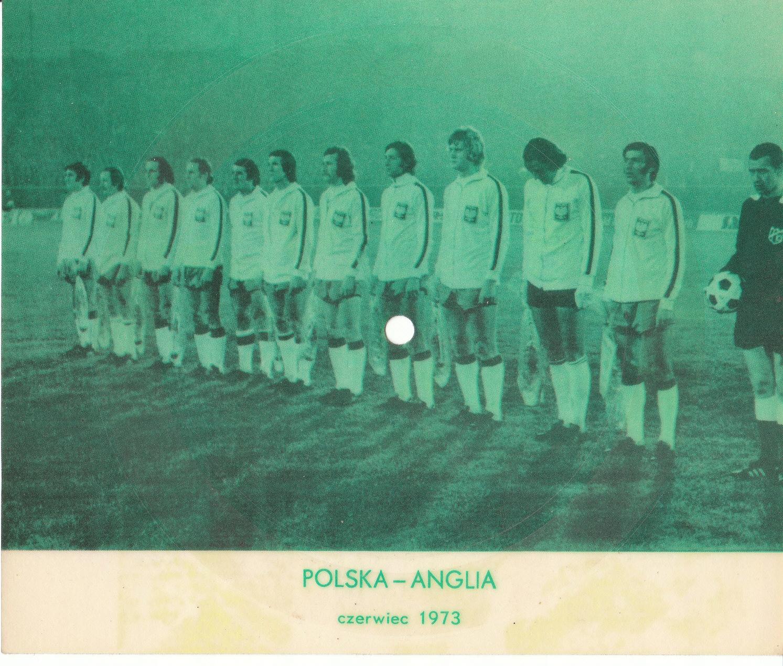 POCZTÓWKA DŹWIĘKOWA MECZ POLSKA ANGLIA 1973 r.