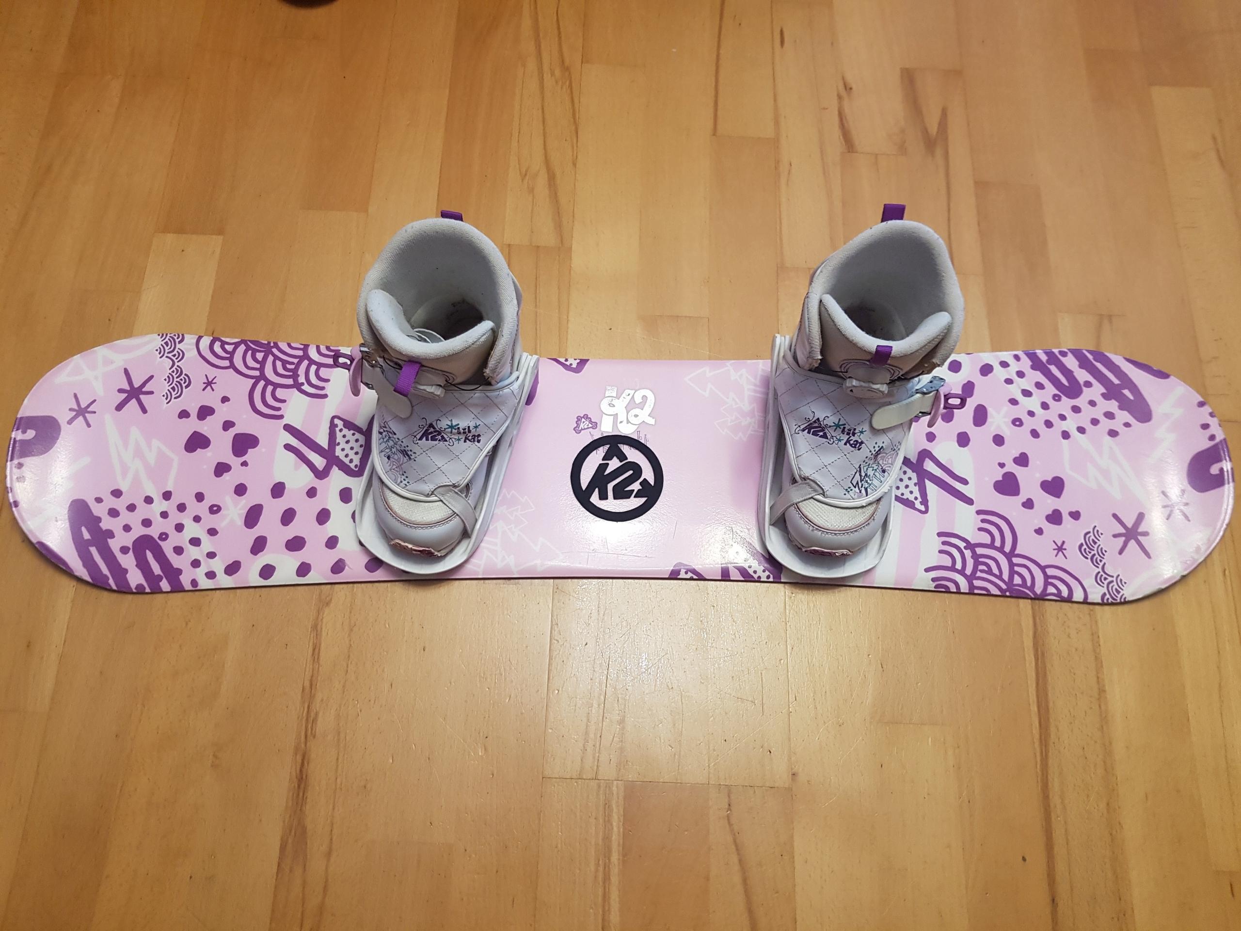 Snowboard k2 dla dziewczynki 110 cm