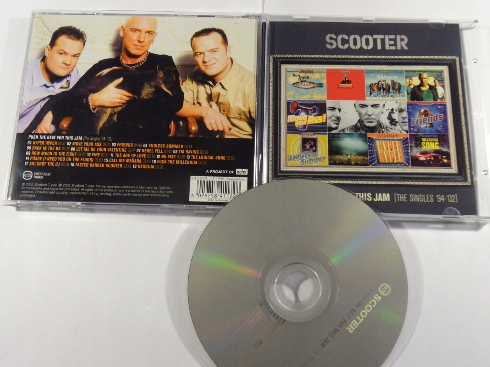 SCOOTER PUSH THE BEAT FOR THIS JAM SINGLES 94 - 02