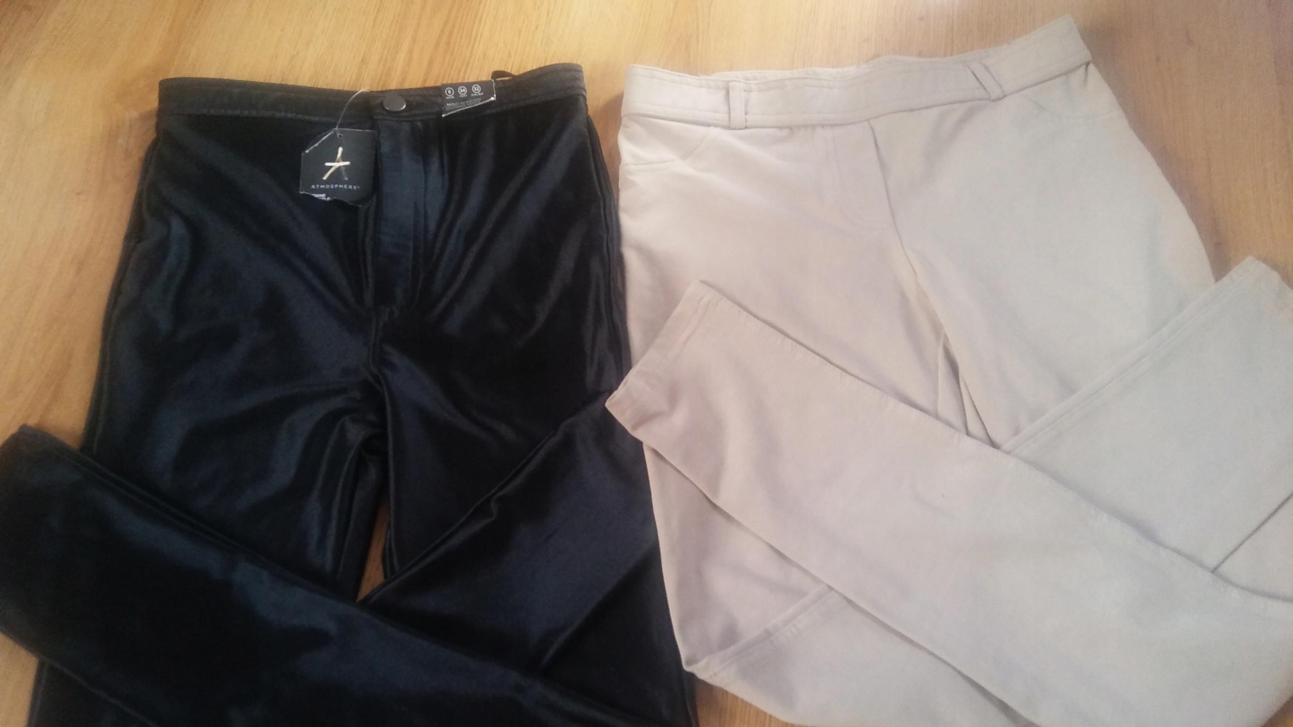Zestaw spodnie z UK, stan idealny, M/XS