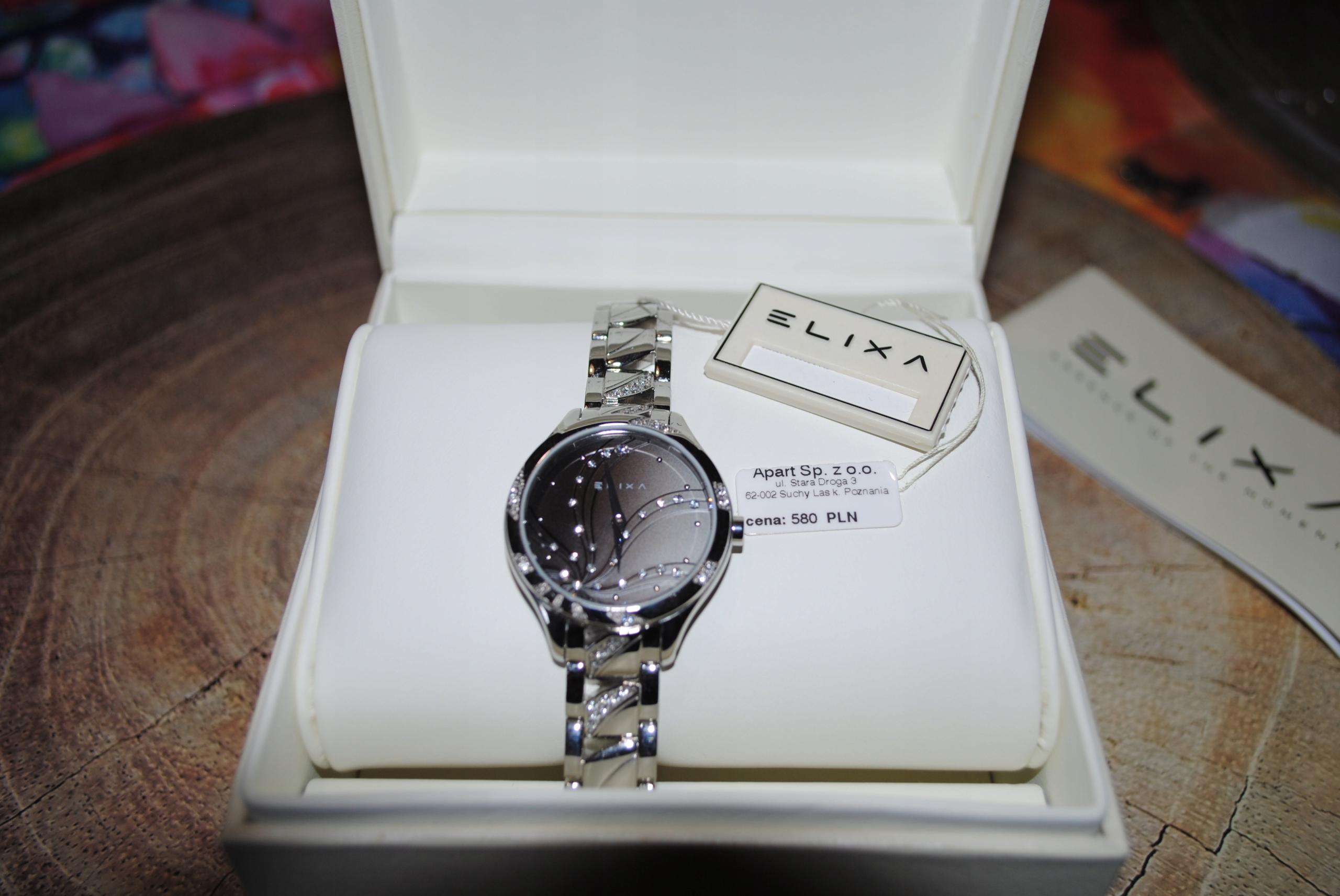 ELIXA zegarek Apart cyrkonie nowy? gwarancja