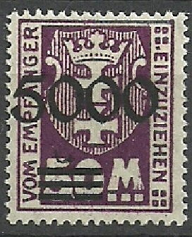WM Gdańsk* 5000/50 Mk Herb dopłata 1923