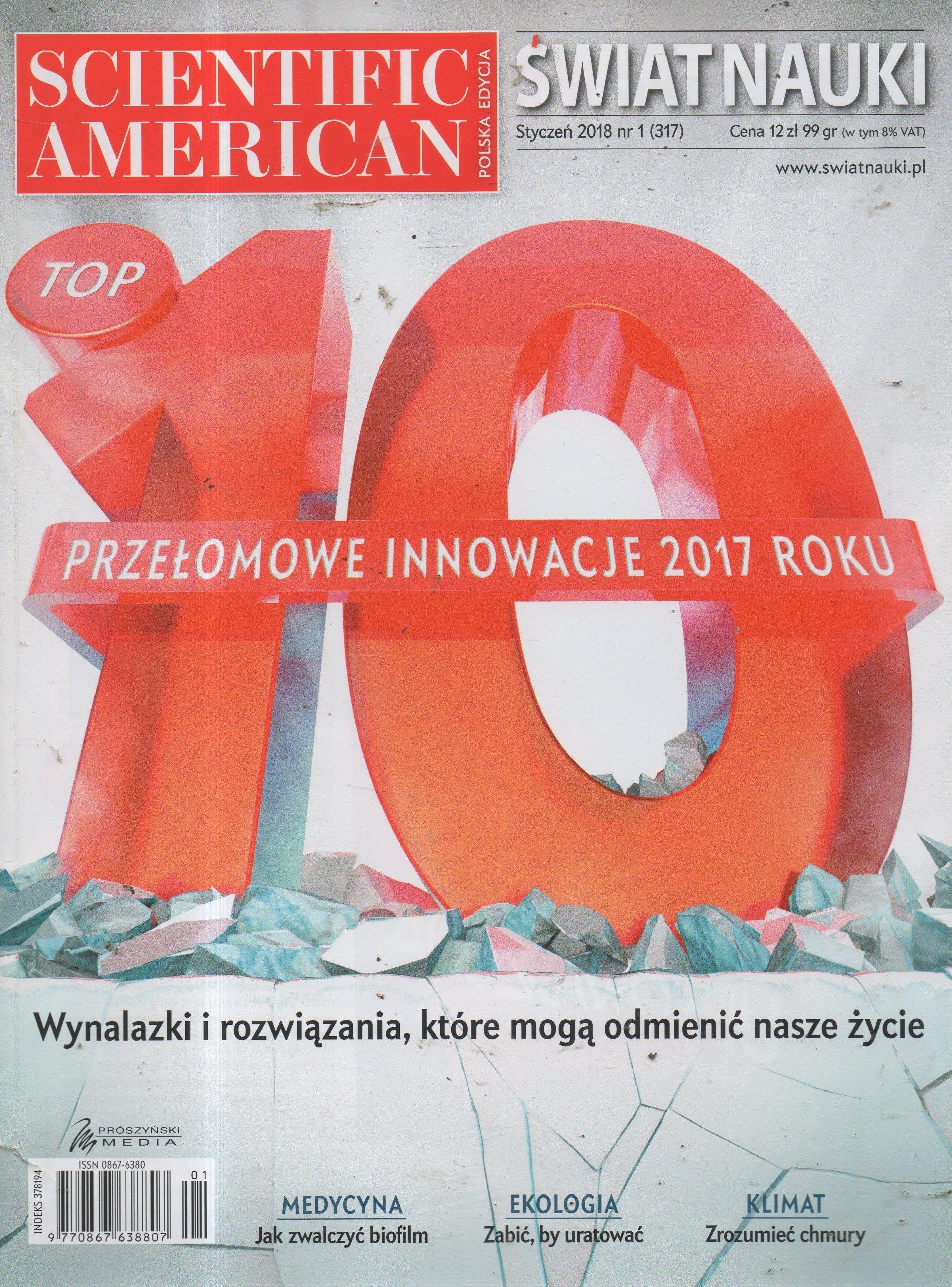 1/2018 Scientific American Polska Świat nauki
